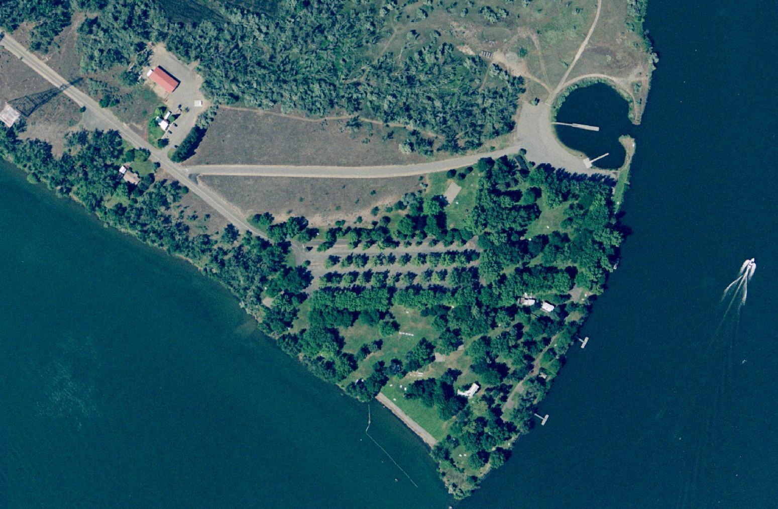 Aerial Sacajawea Park Area