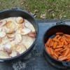 Potatoes and Carrots that are done
